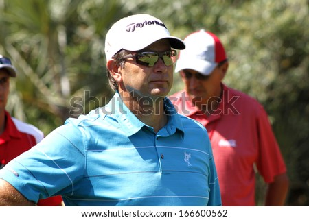 GOOSEN, RETIEF - NOVEMBER 17: Professional Golfer Playing at Gary Player Charity Invitational Golf Tournament  serious looking before tee-off November  17, 2013, Sun City, South Africa.