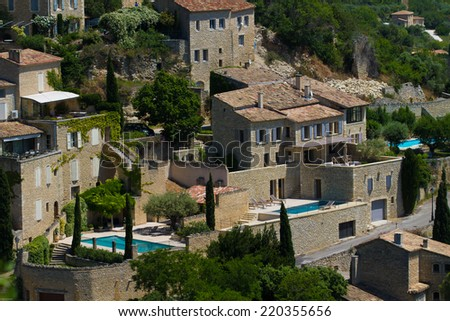 Gordes in detail, Provence, France - stock photo