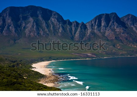 Gordons Bay near Cape Town South Africa - stock photo