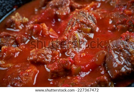 Gored-Gored -Traditional Ethiopian Food.raw beef dish eaten in Ethiopia and Eritrea - stock photo