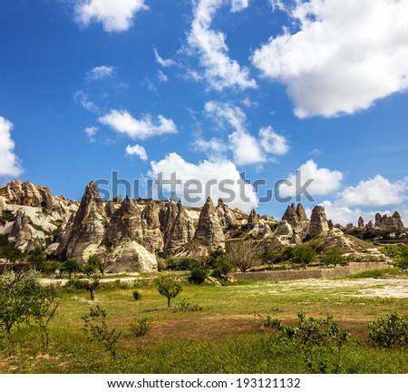 Goreme national park landscape - stock photo