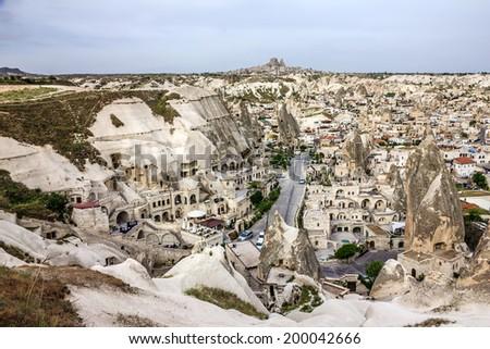 Goreme town, Cappadocia, Turkey - stock photo