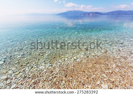 gorgeous beach in Greece - stock photo