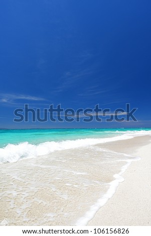 Gorgeous Beach in Summertime - stock photo