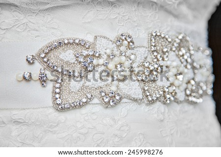 Stock images royalty free images vectors shutterstock for Wedding dresses with pearls and diamonds
