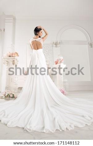 Gorgeous bride  - stock photo