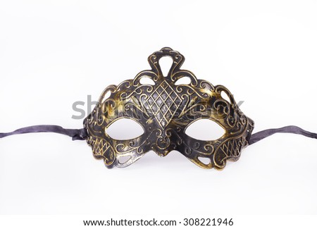 Gorgeous carnival mask - stock photo