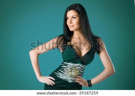 Gorgeous fashion model - stock photo