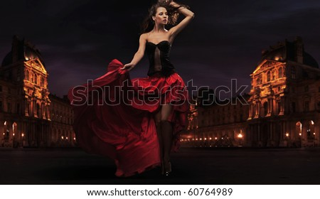 Gorgeous flamenco dancer - stock photo