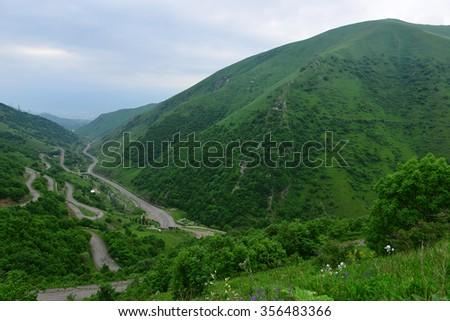 Gorgeous landscape, Armenia - stock photo