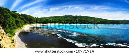 Gorgeous Panoramic from the South Coast of NSW - stock photo