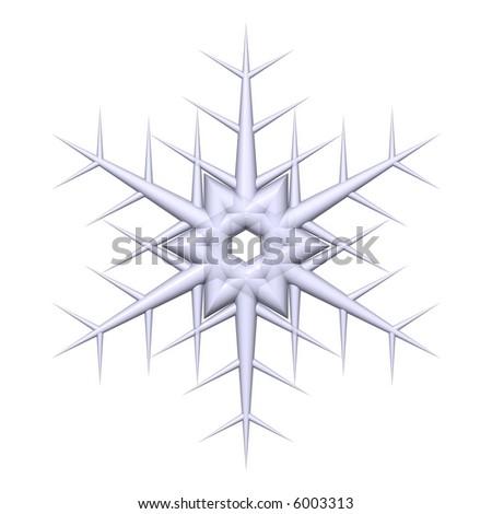 Gorgeous snowflake isolated on white - stock photo