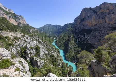 Gorges du Verdon,Provence in France, Europe. - stock photo
