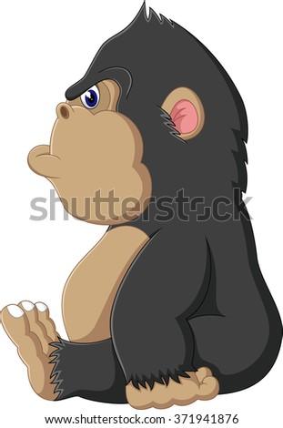 gorilla cartoon - stock photo