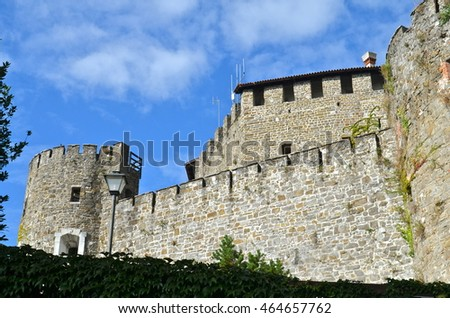 Gorizia Castle a Medieval Fortress, in the region of Friuli in north east Italy