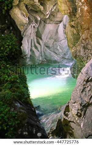 gornerschlucht - stock photo