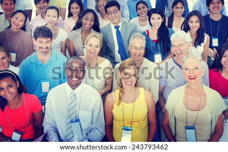 Gorup of Diversity People Office Teamwork Concept - stock photo
