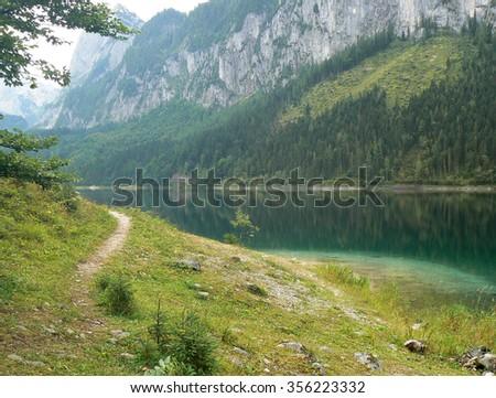 Gosausee - lake in Austria - stock photo