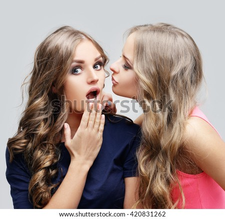 Gossip - stock photo