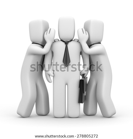 Gossip and controversy - stock photo