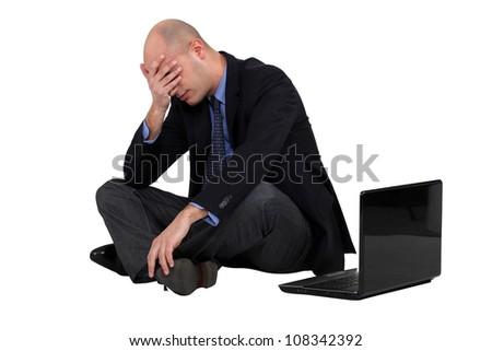 Got a headache. - stock photo