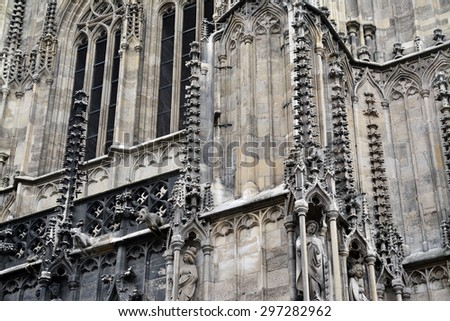 gothic architecture - stock photo