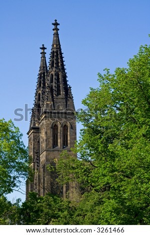 Gothic architecture tower