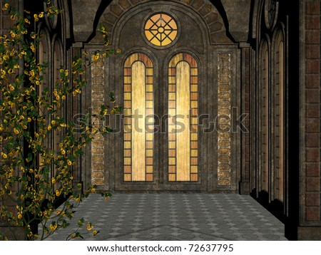 Gothic background - stained glass window