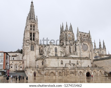 Gothic Dome of Burgos Cathedral, Burgos, Castilla y Leon. Spain - stock photo