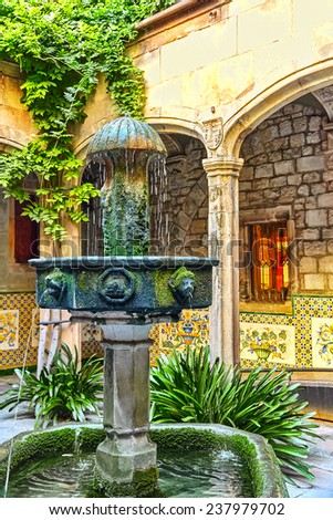 Gothic Quarter in the heart of Barcelona.Catalonia.Spain. - stock photo