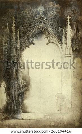 Gothic sketch - stock photo