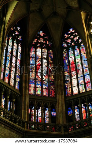 Gothic stained-glass window