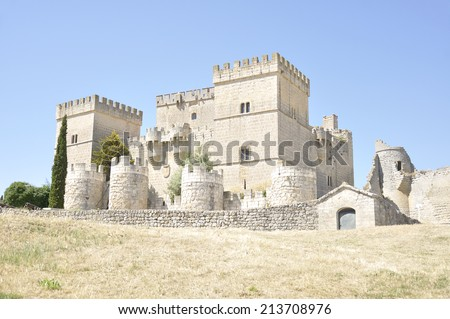Gothic style castle built between the thirteenth and fifteenth centuries, located in the village of Ampudia (Palencia, Castile and Leon, Spain)