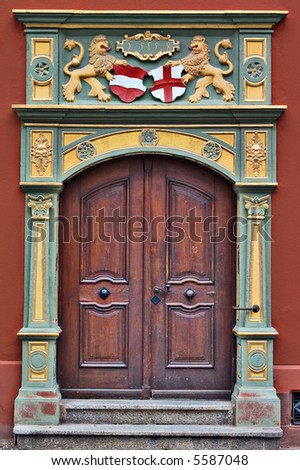 Gothic Style Door Whale House Freiburg Germany