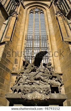Gothic window - stock photo