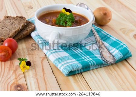 goulash stew - stock photo