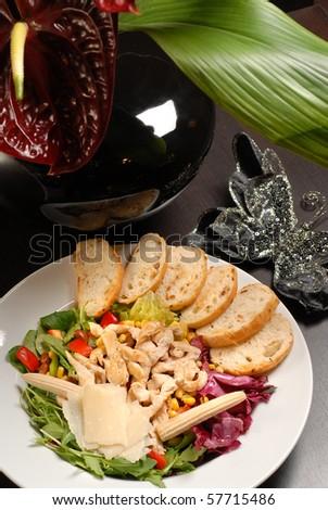gourmet dish - stock photo