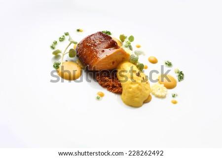 Gourmet food foie grass - stock photo