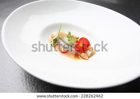 Gourmet food razor shells - stock photo