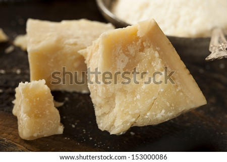 Gourmet Organic Parmesan Cheese on a Background - stock photo