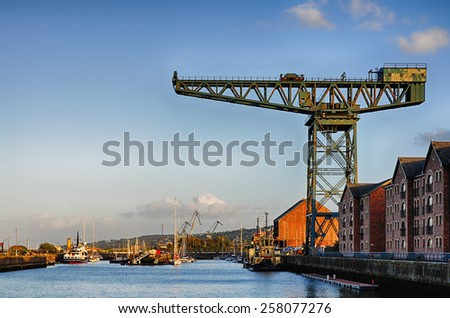 Gourock docks in Inverclyde - stock photo
