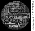 Government info-text graphics and arrangement concept on white background (word cloud) - stock photo
