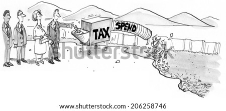 Government Taxes and Spending - stock photo