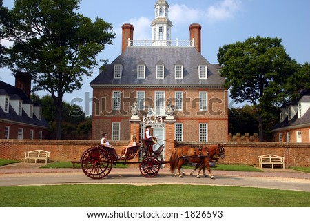 Governor's Mansion Colonial Williamsburg - stock photo