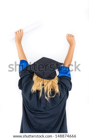 Gown and Cap - stock photo