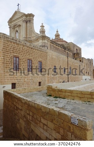 GOZO, MALTA -27 JANUARY 2015- Victoria, the capital of Gozo in Malta, is also known as Rabato, Citta Victoria and Ir-Rabat Ghawdex. It is built around a citadel.