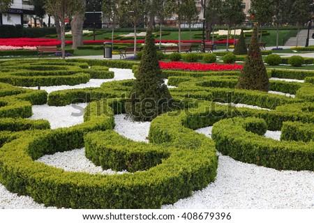 Goztepe Garden Park in Istanbul, Turkey. - stock photo