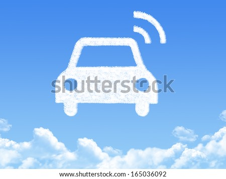GPS navigation cloud shape