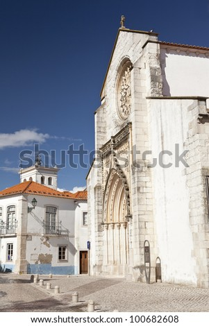 Gra�§a Church in Santarem, Portugal.