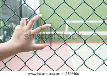 grab,Handle steel mesh cage lack of independence